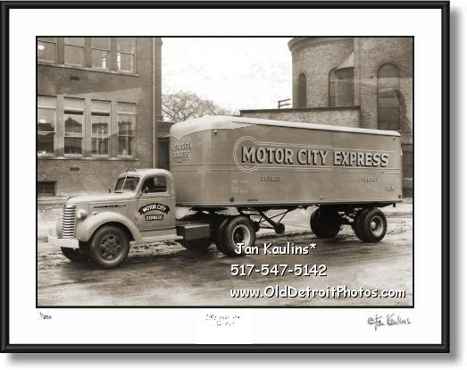 Click on this image to see an enlarged view of MOTOR CITY EXPRESS Fruehauf Trucking Detroit.