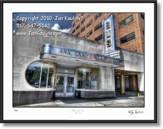 BUS STATION ANN ARBOR photo picture art print