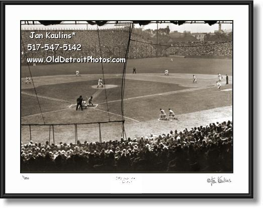 1935 DETROIT WORLD SERIES Navin Field photo