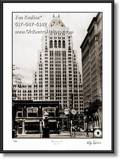 Click on this image to see an enlarged view of FISHER BUILDING DETROIT 1930 photo print.