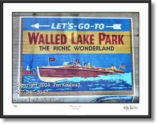 Click on this image to see an enlarged view of WALLED LAKE AMUSEMENT PARK photo print.