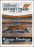 Click on this image to see an enlarged view of BRIGGS STADIUM 1946 Score Card photo print.