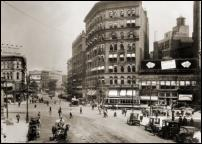 Click on this image to see an enlarged view of GRISWOLD at MICHIGAN AVE Detroit photo 1915.