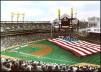 Click on this image to see an enlarged view of COMERICA PARK photo picture print Opening Day.