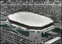 Click on this image to see an enlarged view of Pontiac SILVERDOME aerial picture photo print.