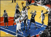 Click on this image to see an enlarged view of BEN WALLACE Detroit Pistons Finals photo print.