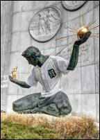 Click on this image to see an enlarged view of Spirit of Detroit photo 2006 Detroit World Series.