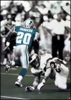 Click on this image to see an enlarged view of BARRY SANDERS #20 Detroit Lions photo art print.