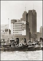 Click on this image to see an enlarged view of Vintage Detroit TUGBOAT RACE 1951 photo print .