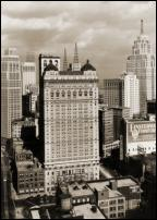 Click on this image to see an enlarged view of BOOK-CADILLAC HOTEL old Detroit photo print.