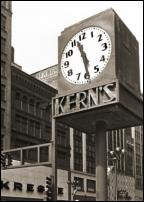 Click on this image to see an enlarged view of KERN'S CLOCK Detroit Kern's Clock photo print.