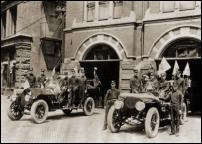 Click on this image to see an enlarged view of OLD DETROIT FIRE ENGINES photo print picture.