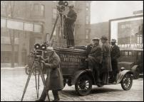 Click on this image to see an enlarged view of OLD DETROIT NEWS FILM CREW vintage photo.