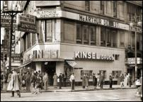 Click on this image to see an enlarged view of KINSEL DRUGSTORE DETROIT 1940 photo print.