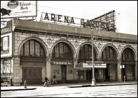 Click on this image to see an enlarged view of ARENA GARDENS ROLLER RINK Detroit 1953 photo.