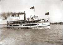 Click on this image to see an enlarged view of WYANDOTTE Steamer photo print S.S. WYANDOTTE.