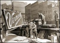 Click on this image to see an enlarged view of VERNORS GINGER ALE original sign 1946 photo.