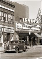 Click on this image to see an enlarged view of Vintage DETROIT IRVING THEATER photo print.