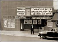 Click on this image to see an enlarged view of Vintage Detroit Norwood Telenews Theater photo.