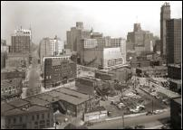 Click on this image to see an enlarged view of GAR BUILDING Detroit vintage photo G.A.R. Bldg..